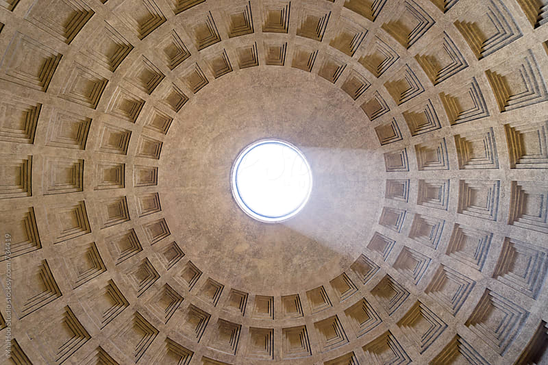 Ceiling of Rome Pantheon by MaaHoo Studio for Stocksy United