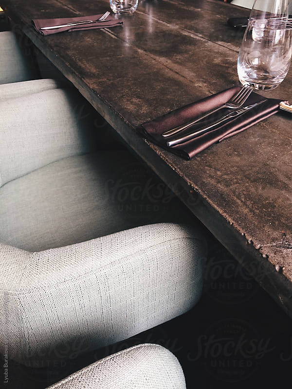 Table  in a restaurant by Lyuba Burakova for Stocksy United