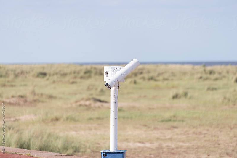 A telescope in a remote location by Mike Marlowe for Stocksy United