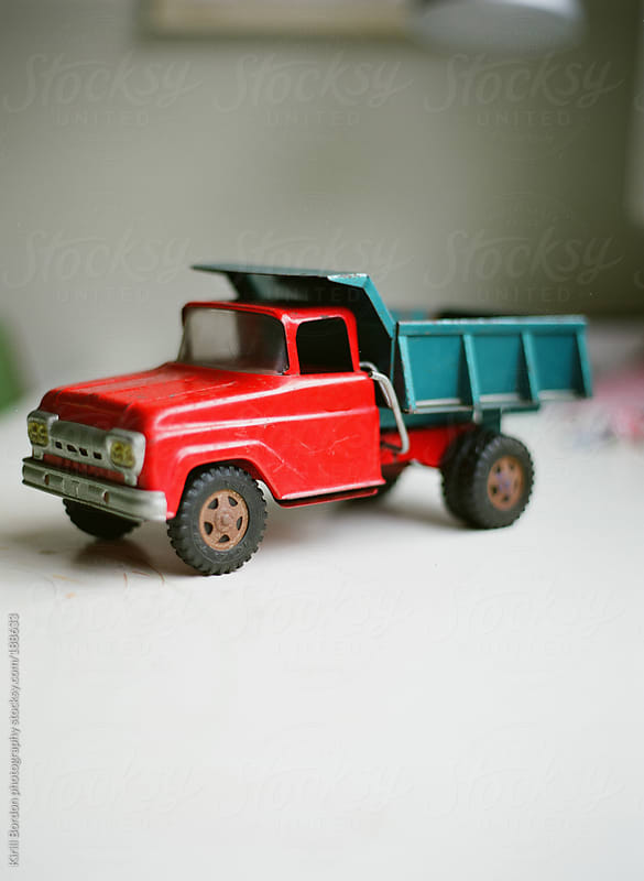 vintage toy truck by Kirill Bordon photography for Stocksy United