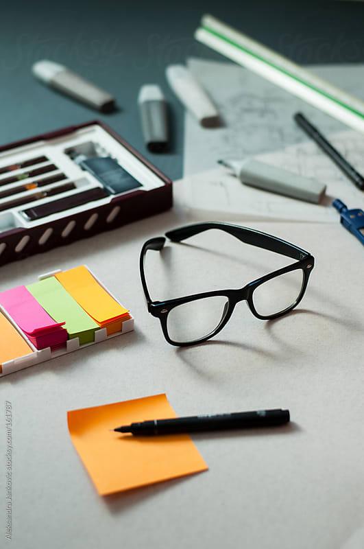 Objects on the office desk by Aleksandra Jankovic for Stocksy United