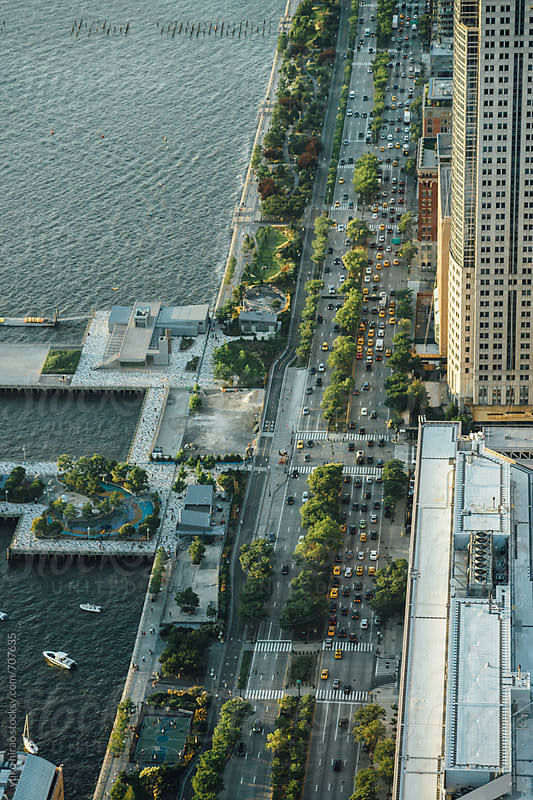 A busy street of New york city, viewed from above by yuko hirao for Stocksy United