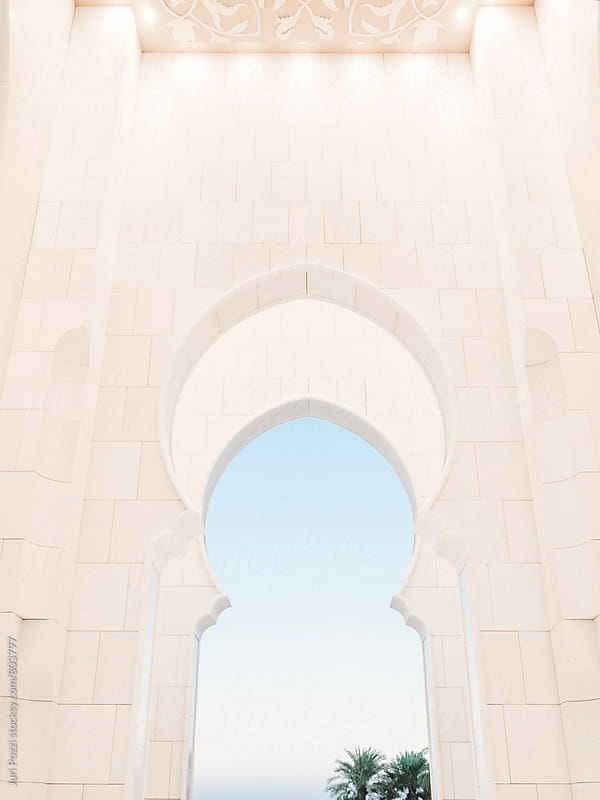 detail of an arabic arch by Juri Pozzi for Stocksy United