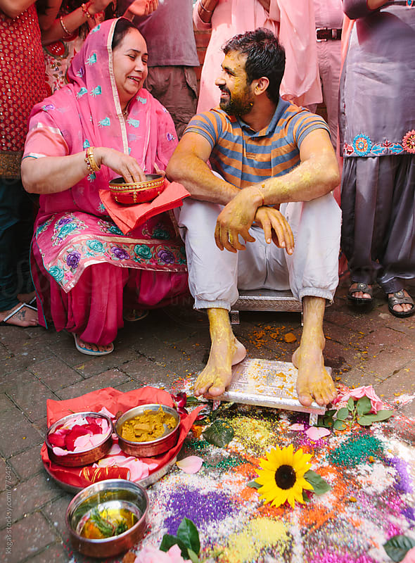 Mayian ceremony during a Sikh wedding by kkgas for Stocksy United