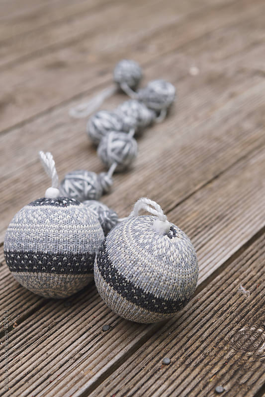 xmas decorations in grey by Gillian Vann for Stocksy United