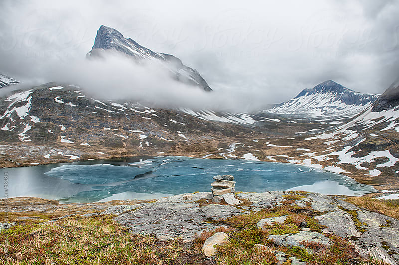 Beautiful fjord landscape in Geiranger, Norway by Andreas Gradin for Stocksy United