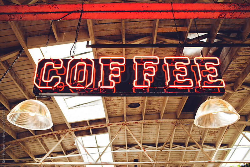 Coffee Sign by Sean Horton for Stocksy United