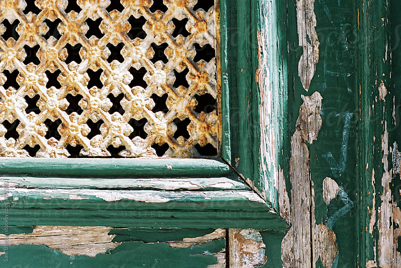 Close up of an old door in Lisbon. by Sam Burton for Stocksy United