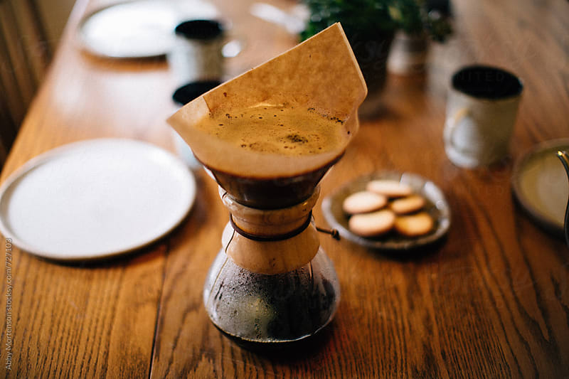 Making Coffee in Chemex  by Abby Mortenson for Stocksy United
