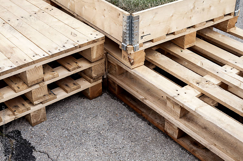 wooden pallets by MEM Studio for Stocksy United