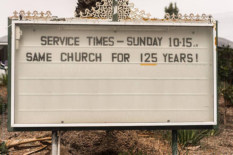 church sign by Gillian Vann for Stocksy United