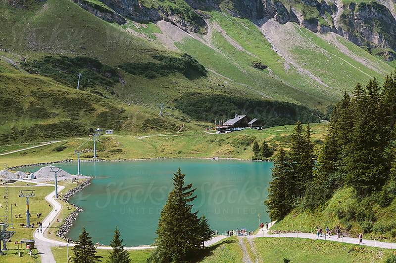 Trüebsee Lake in Engelberg, Switzerland by VICTOR TORRES for Stocksy United