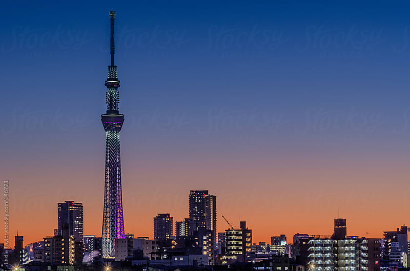 Dusk In Tokyo by Leslie Taylor for Stocksy United