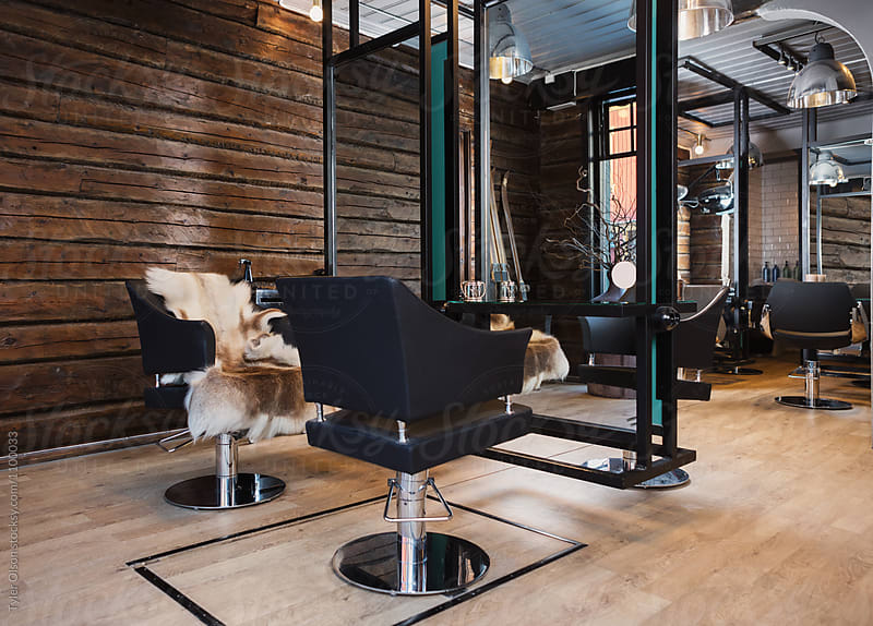 Interior Of Hair Salon by Tyler Olson for Stocksy United
