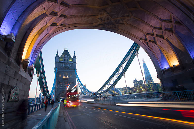 Tower Bridge at sunset. London. UK. by Hugh Sitton for Stocksy United