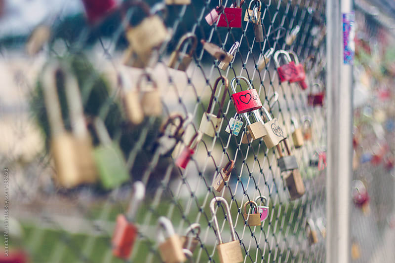 Love locks with I love you by Leander Nardin for Stocksy United