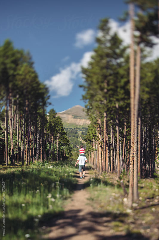 Hiking trail leading to a ski area in Colorado in summer by Angela Lumsden for Stocksy United