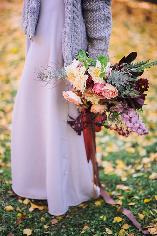 Autumn themed  Wedding Floral Bouquet; fall flowers bouquet
