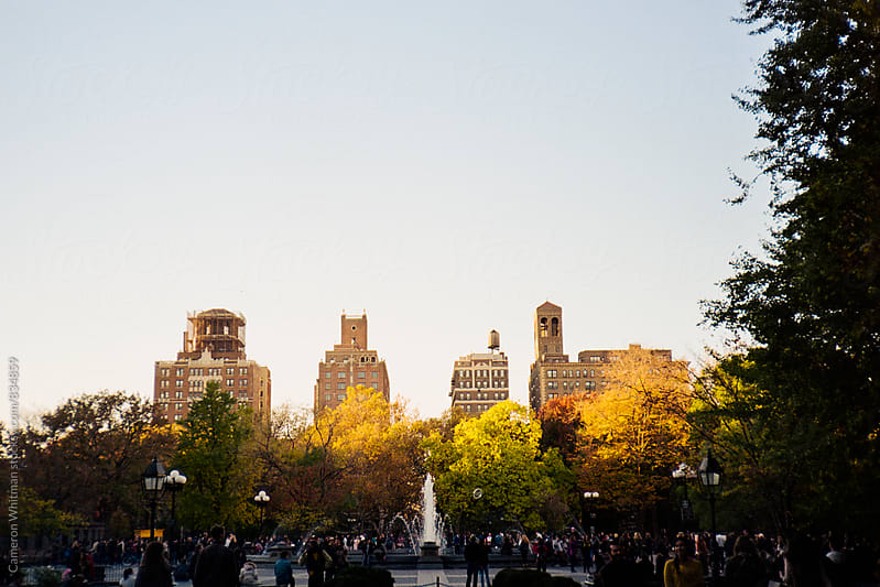 Washington Square Park in late fall by Cameron Whitman for Stocksy United