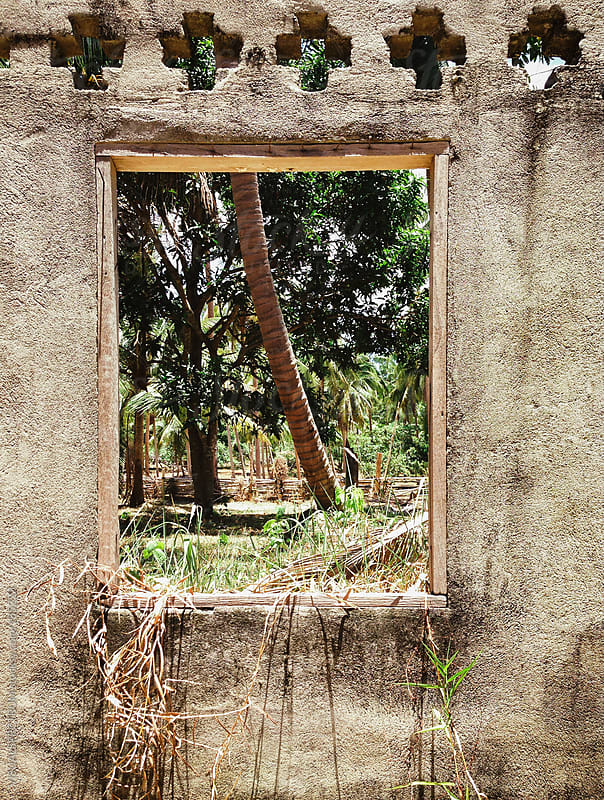 View Through Window In Abandoned House by VISUALSPECTRUM for Stocksy United