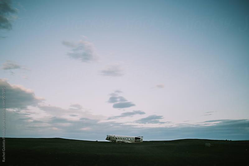 Iceland Plane Crash Wreckage by Rachel Gulotta Photography for Stocksy United