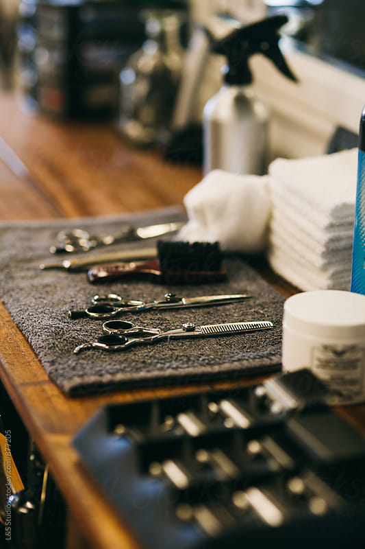 Barber's tools by L&S Studios for Stocksy United