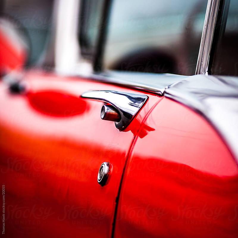 Car door detail by Thomas Hawk for Stocksy United