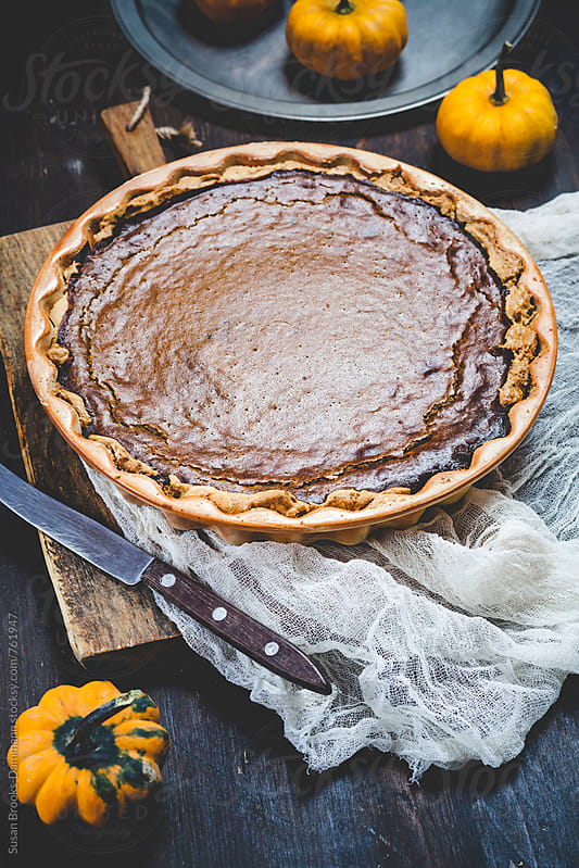 Pumpkin pie by Susan Brooks-Dammann for Stocksy United