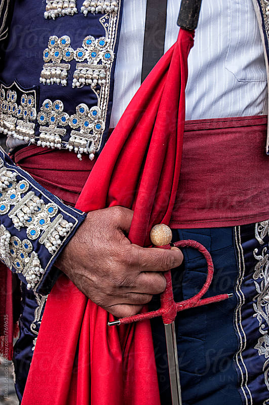 Detail of a bullfighter costume in Madrid, Spain by Bisual Studio for Stocksy United