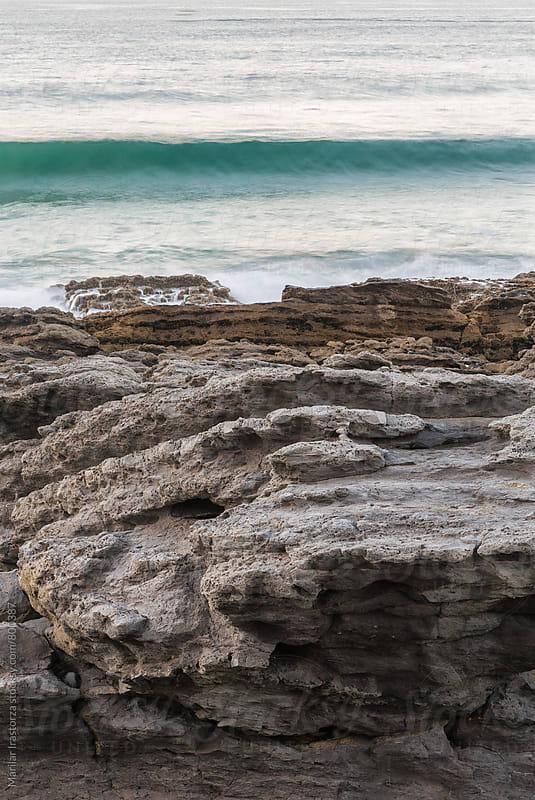 Wave reaching the coast by Marilar Irastorza for Stocksy United