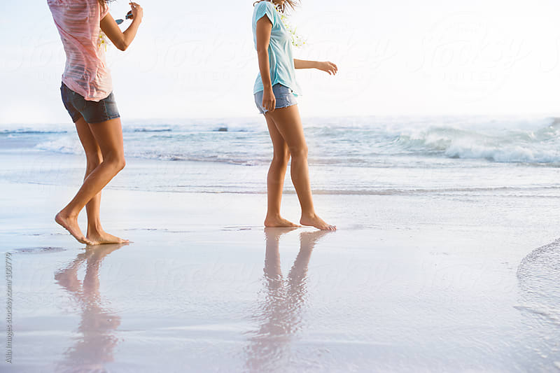 Gorgeous Girls on Beach Holiday  by Aila Images for Stocksy United