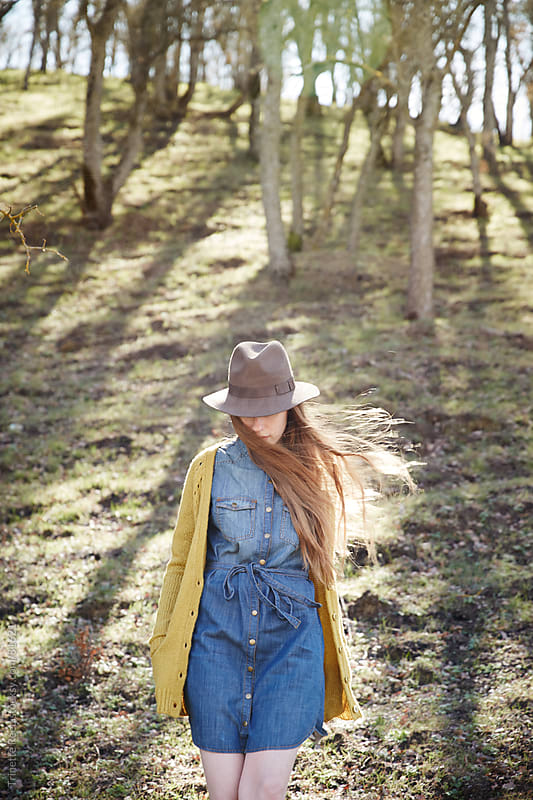 Woman walking in nature by Trinette Reed for Stocksy United