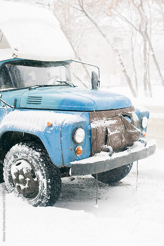 blue old truck by Alexey Kuzma for Stocksy United
