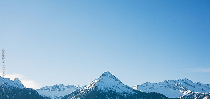 Panoramic View of Snow Capped Mountain Range by Grady Mitchell for Stocksy United