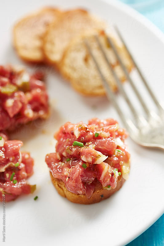 Steak tartar by Martí Sans for Stocksy United