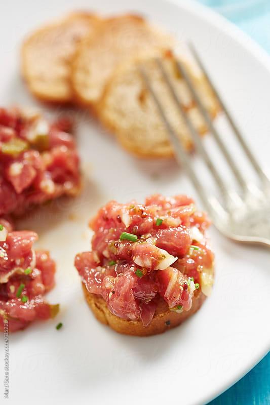 Steak tartar by Martí Sans for Stocksy United