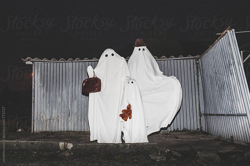 Happy family of ghosts by michela ravasio for Stocksy United