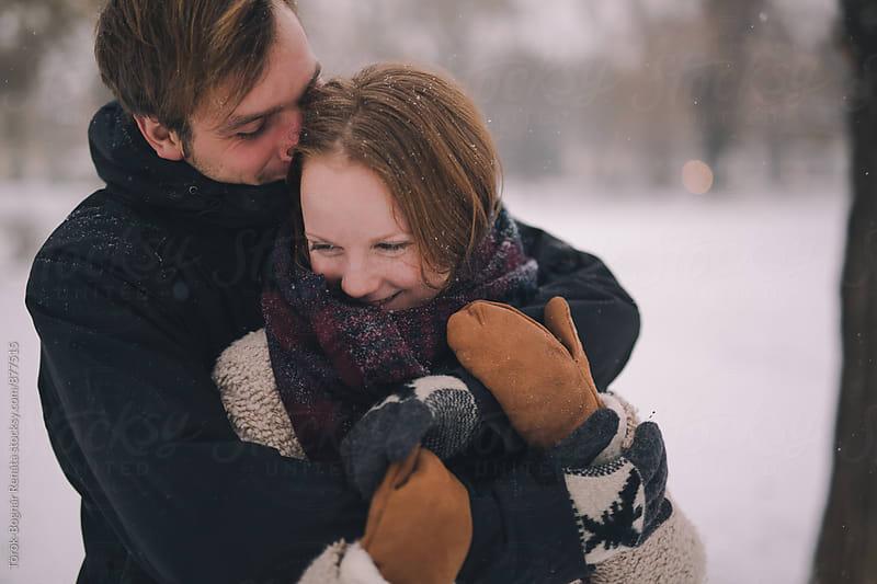 Closeup of a lovely young couple by Török-Bognár Renáta for Stocksy United