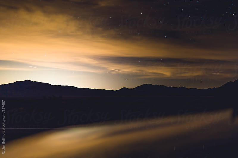 A long exposure landscape shot of Death Valley at night by Rachel Bellinsky for Stocksy United