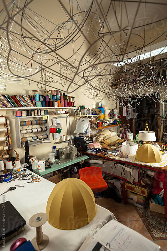 Chaotic and beautiful Workshop in Italy by Luca Di Lotti for Stocksy United