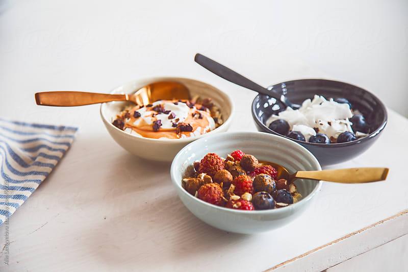 Yogurt with Fresh Ingredients by Alie Lengyelova for Stocksy United