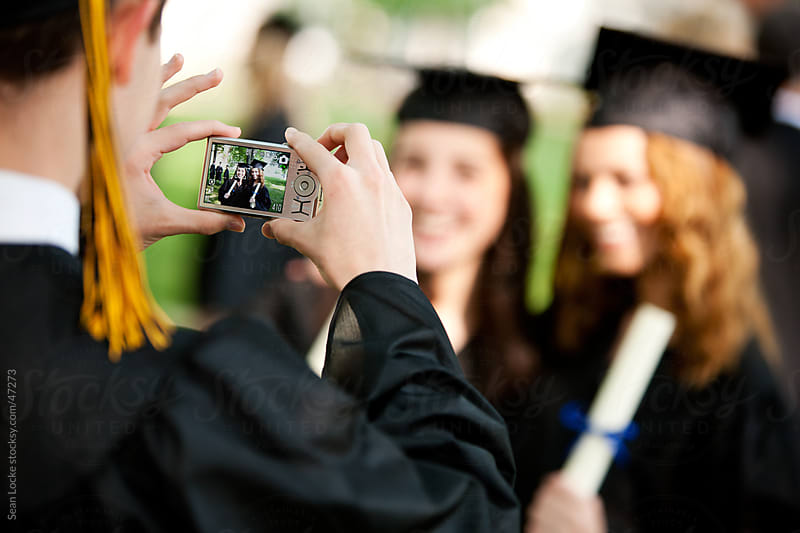 Graduation: Focus on LCD of Digital Camera by Sean Locke for Stocksy United