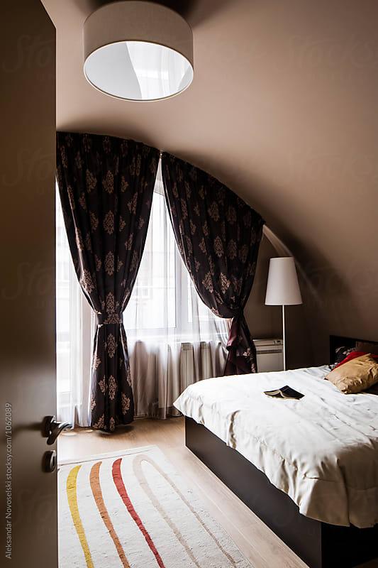 Contemporary bedroom by Aleksandar Novoselski for Stocksy United