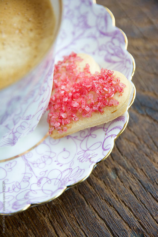 Heart shaped cookie by Harald Walker for Stocksy United