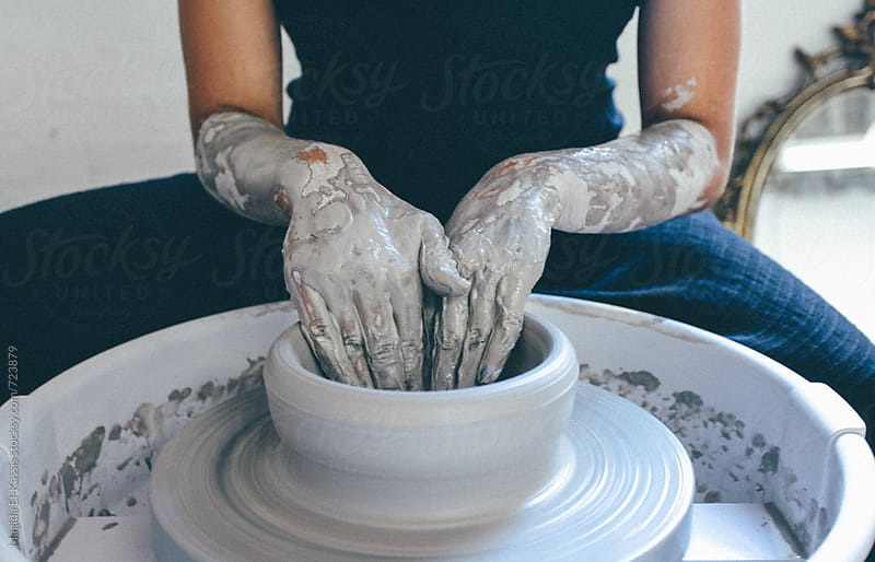 pottery by Magida El-Kassis for Stocksy United