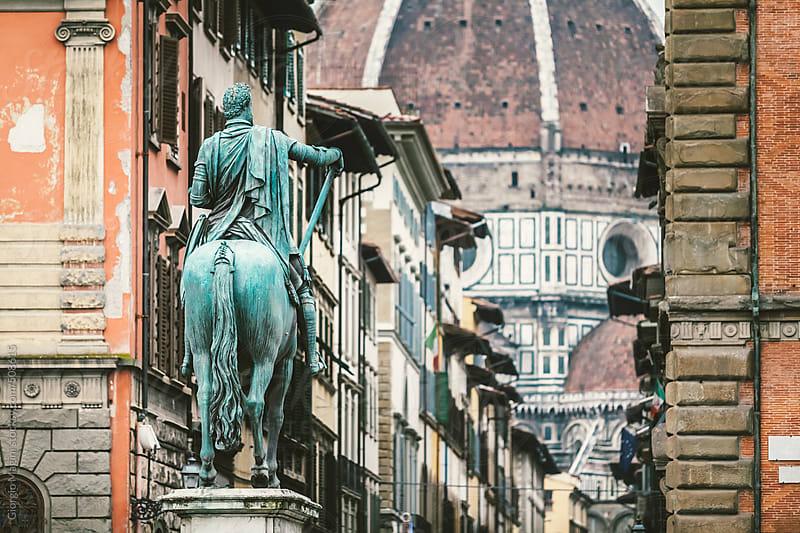 Bronze Equestrian Statue in Florence, Italy by Giorgio Magini for Stocksy United
