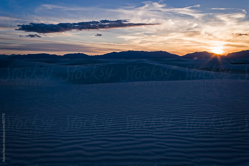 Sunset at White Sands New Mexico by Adam Nixon for Stocksy United