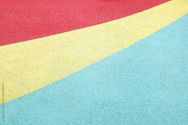 three colored ground by Sonja Lekovic for Stocksy United