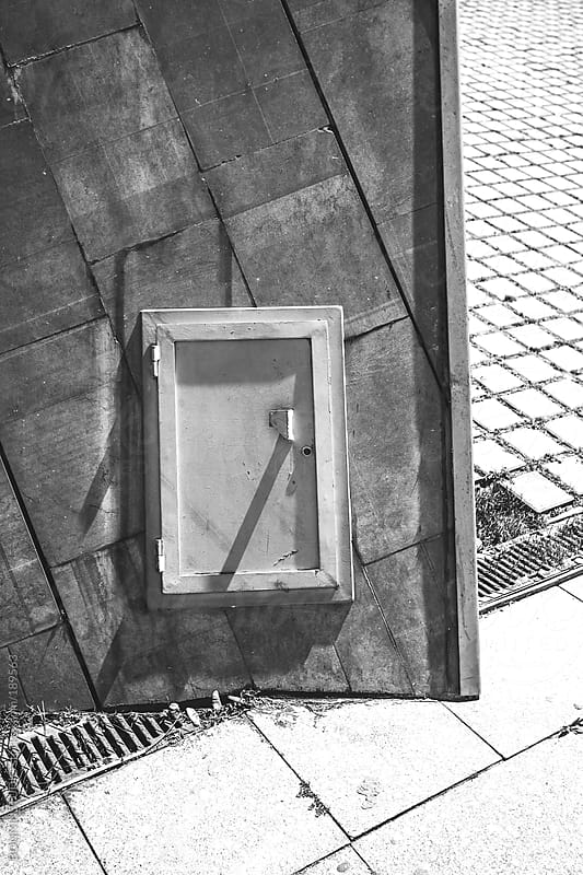Little door. Abstract forms on a urban landscape. Barcelona. by BONNINSTUDIO for Stocksy United