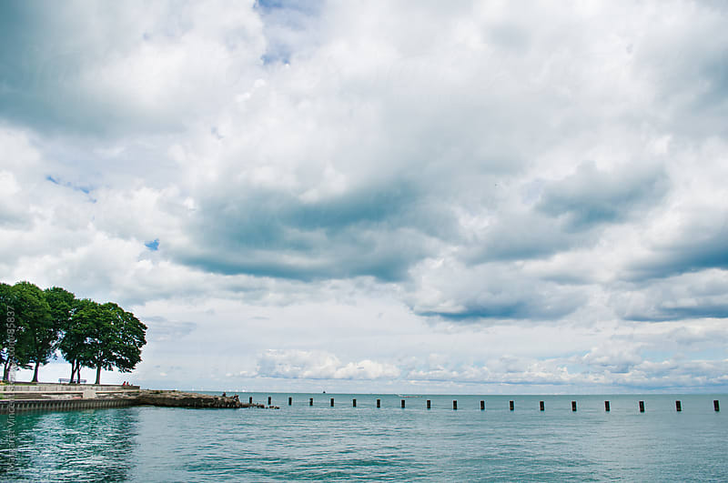 Clouds over Lake Michigan by Margaret Vincent for Stocksy United